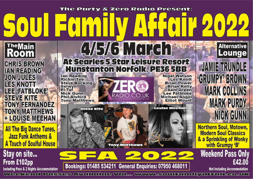 Soul Family Affair 2022 Flyer